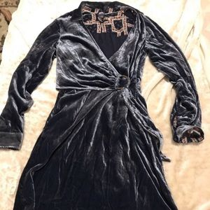 Anthro NWOT Maeve velvet dress